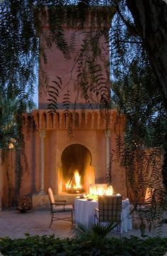 Dinner by the fire light