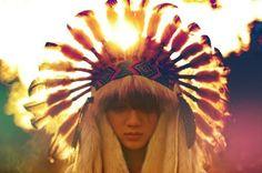 Boho navajo headdress