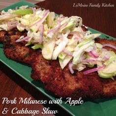 Pork Milanese with Apple Cabbage Slaw recipe - Foodista.com