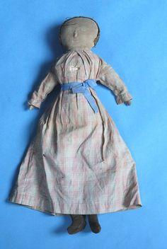 19th Century Black Folk Art Rag Doll American.