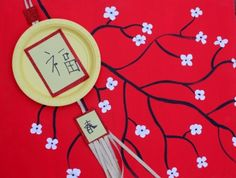 Chinese New Year Lantern Craft - made with paper plates - cute! dollar store craft