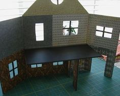 Part II haunted house. Lots of tutorials for miniature candle sticks, tables, etc... #crafts #haunted_house #miniature #dollhouse #halloween #miniatures