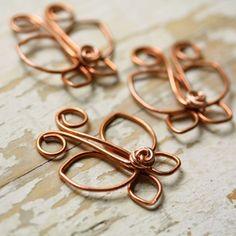 Copper Wire Jewelry | Wire Jewelry Ideas / Wire Butterfly Solid Copper - Handmade Wirework ...
