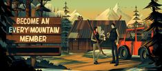 Illustration for the Australian based outdoor shop, Every Mountain.