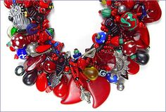 finger woven treasure necklace by Robin Atkins