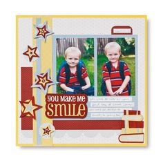 You Make Me Smile This and That #Cricut #Scrapbooking Layout Idea from Creative Memories    www.creativememor...