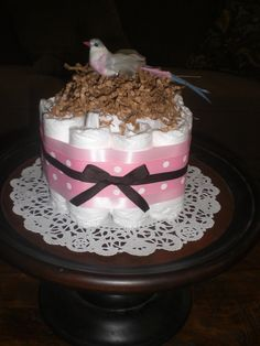Pink, Green and Brown baby shower on Pinterest