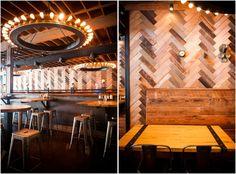 kitchens, whiskey kitchen, portland, restaurant design, wood design, southland whiskey, restaurants, restaur design