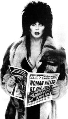 Elvira haha the news paper