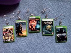 Xbox 360 Game Case Earrings - Pick your own games