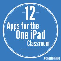 You don't have to be in a one to one iPad classroom to integrate this powerful tablet into your everyday routine. Here are just a sampling of some great apps to use with your one iPad.