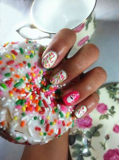 Shine Beauty Beacon | National Doughnut Day: Rainbow Sprinkles Nail Art Treats For Your Tips