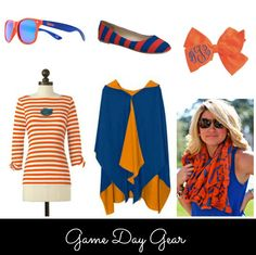 Game Day Style. Chic ways to show off your school colors. #gators #gamedayfashion