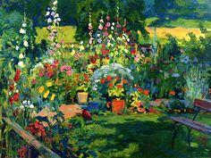 Portrait of a Garden Cuno Amiet - 1949