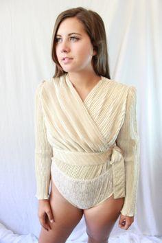 Jeanne Marc Body Suit. $65.00, via Etsy.