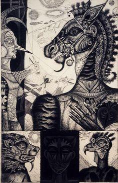 """Metamorphosis Mitsuru Nagashima"""" Etching Print"""