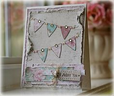 EwenStyle: Paper Sweeties' July Sketch Challenge - Try similar with SU's clear banner stamp set.