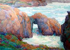 robin purcell , watercolors in the plein air tradition  Arche at Point Lobos ,accepted into the 2013 Signature American Watercolor Exhibtion
