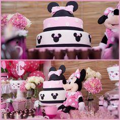 #MinnieMouse #pink #rosa #cake #bolo - Boutique Festas