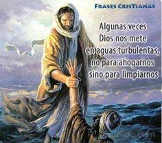Algunas veces Dios nos mete en aguas turbulentas, no para ahogarnos sino para limpiarnos