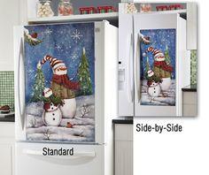 Decorative Snowman Fridge Door Magnet