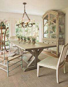 love this trestle table