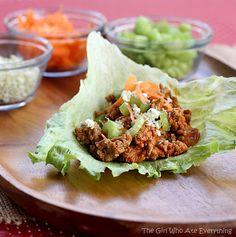 Buffalo Wing Turkey Lettuce Wraps