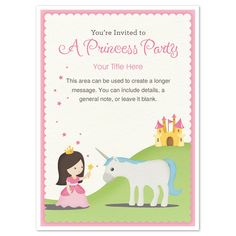 princess party invite