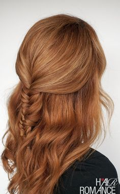 Hair Romance TV - Fishtail braid tutorial