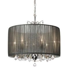 Filament Design Catherine 5-Light Polished Chrome Incandescent Chandelier with Silver Shades-CLI-DN14200165 at The Home Depot