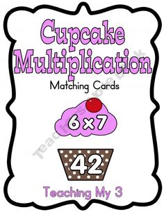 Cute Multiplication Folder game all the way up to multiples of 12!