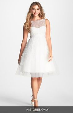 Jenny Yoo 'Bella' Chantilly Lace Fit & Flare Dress (In Stores Only) | Nordstrom