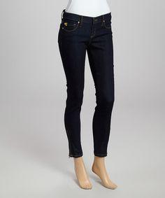 Indigo Low-Rise Skinny Jeans #zulily #zulilyfinds