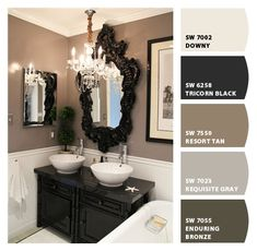 Chip It! by Sherwin-Williams – blacks & browns- guest bathroom
