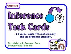 From Rachel Lynette: Inference is such a tricky skill to master, but these 24 cards can help! Use them orally in small groups or individually as a writing assignment.  ...