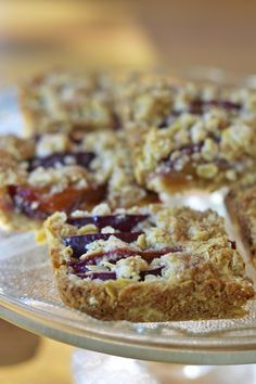 Gluten Free Oatmeal Plum Bars Are a Perfect Wheat Free Dessert