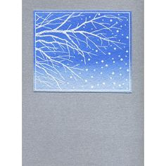 Memory box card using Snowy Branches stamp