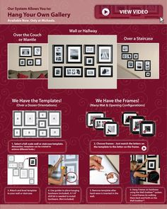 Hang your own gallery framing system