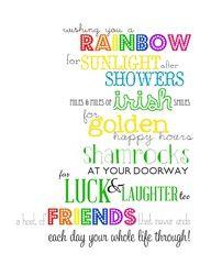 Wishing You a Rainbow: An Irish Blessing Printable