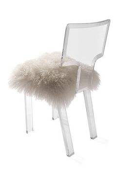 dream offic lovelola chair lamb fur furniture dining room chairs