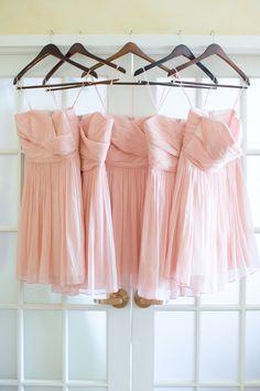 Pink Bridesmaids Dresses | photography by http://www.amyandjordan.com
