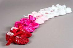 Handmade baby girl shoes