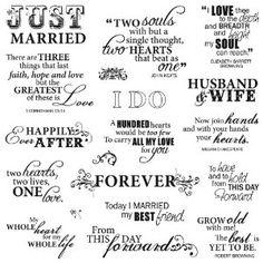 Wedding Sayings...