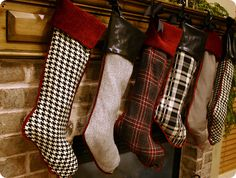 Plaid and Houndstooth Stockings