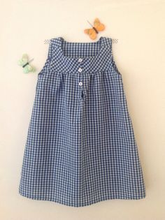 Vichy dress. French style for a little girl.