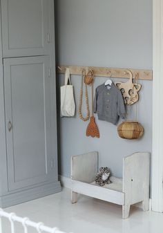 Grey Blue Kids Room