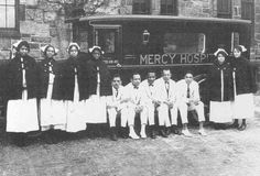 Group of Nurses & Interns, Mercy Hospital, circa 1924, from the Mercy Douglass Hospital Collection. Image courtesy of the Barbara Bates Center for the Study of the History of Nursing.