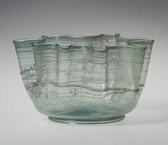 Bowl, 3rd–4th century a.d.  Roman  Blown glass