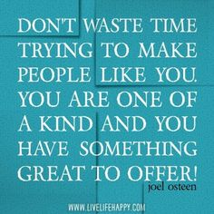 Joel Osteen I Have Something Great to offer!!!!!!!