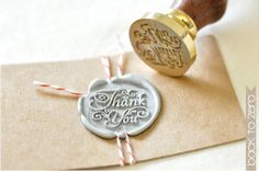 """Thank you"" wax seal stamp."